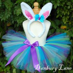 Baby Easter Tutu Bunny costume girls purple dress by DanburyLane, $26.95