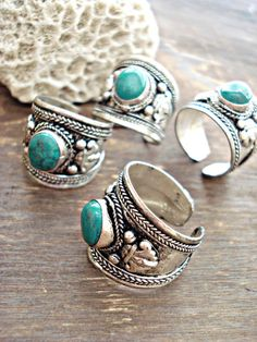 Boho Ring Boho Jewelry Turquoise Ring Yoga by HandcraftedYoga