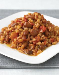 Pearl Barley and Borlotti Bean One-pot