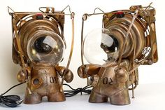 These little designs combine two things I absolutely love, steampunk and Nintendo. These precious little minions as they are called (I call them toys), are