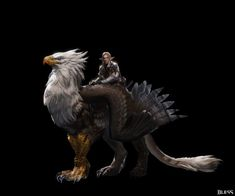 A gorgeous example of a griffon. The griffs in the #BirthRightTrilogy have lion forearms too though, just with the talons of an eagle. Very talented artist here!Bell-living world, Bless