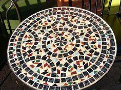 About Mosaic Tables Mosaic Pots, Mosaic Diy, Mosaic Crafts, Mosaic Projects, Mosaic Glass, Mosaic Tiles, Stained Glass, Mosaics, Mosaic Outdoor Table