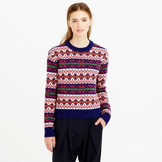 J.Crew Lambswool classic Fair Isle sweater on shopstyle.com