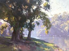 Sketch for Serene Flow, Georges River 45cm x 60cm