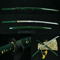 Katana Swords, Samurai Swords, Fantasy Sword, Fantasy Weapons, Kill Bill Movie, Armas Ninja, Dragon Sword, Cool Swords, Ninja Weapons