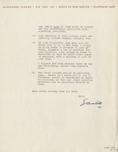 Alexander Girard lays out the details for J. Irwin Miller as to how he will handle the interior design for Miller House. Alexander Girard to J. Irwin Miller, 6 July 1954, 32/380, Miller House and...