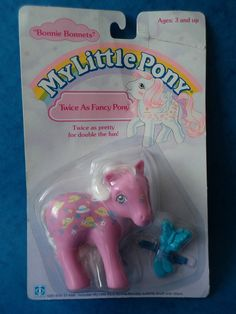 Vintage Toy - MY LITTLE PONY - TWICE AS FANCY PONY - BONNIE BONNETS - MOC - 1987 in Toys & Games, TV & Film Character Toys, TV Characters | eBay