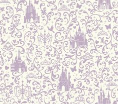 York Wallcoverings Walt Disney Kids II x Small Scroll with Castles Wallpaper Color: Purple and White Paintable Wallpaper, Wallpaper Gallery, Kids Wallpaper, Disney Wallpaper, Wallpaper Roll, Wall Wallpaper, Pattern Wallpaper, Wallpaper Borders, Chic Wallpaper