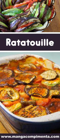 Receita de Ratatouille – um prato francês vegetariano que é muito fácil de fazer e delicioso de comer. #receitas