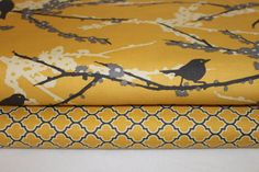 Joel Dewberry Fabric Duo Aviary 2 Sparrows and by BellaFabrics, $17.50