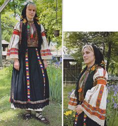Huedin, Transilvania Folk Costume, Costumes, Folk Clothing, Traditional Dresses, Around The Worlds, Sari, Embroidery, People, Inspiration