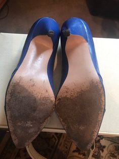 Vintage Royal Blue Court Shoes Pumps Slip Ons | Etsy Blue Court Shoes, Wine Shoes, Pump Shoes, Pumps, Blue Stilettos, Floral Bath, Leather High Heels, Beautiful Shoes, Deep Blue