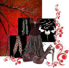 """""""A Steampunk Night"""" by handmadendesigns on Polyvore"""