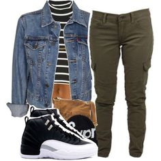 A fashion look from November 2014 featuring Levi's jackets, Lucky Brand pants and Steve Madden shoulder bags. Browse and shop related looks.