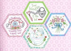 Best Friends Forever - stitchery BOM FULL SET - PATTERNS + preprinted fabric | eBay