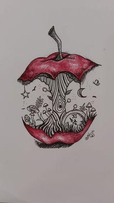 art sketches ~ art sketches & art & art sketchbook & art inspiration & art drawings & art wallpaper & art journal i Trippy Drawings, Dark Art Drawings, Pencil Art Drawings, Art Drawings Sketches, Cool Drawings, Sketch Drawing, Doodle Art Drawing, Tattoo Sketches, Tattoo Drawings