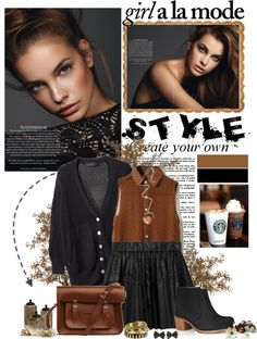 """""""girl a la mode...."""" by charmingt ❤ liked on Polyvore"""