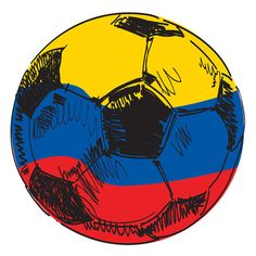 Colombia Flag Soccer Ball Sticker (Do this to dads soccer ball! Colombia Soccer, Colombia Flag, James Rodriquez, James 10, Colombian Girls, Greetings Images, Football Art, Thinking Day, Cool Countries