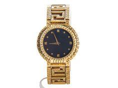 Authentic Gianni Versace vintage medusa Gold plated quartz watch