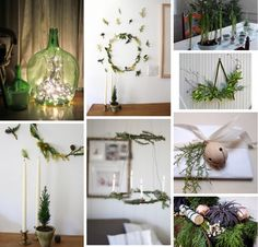 green and white christmas decor from the Gardenista Photo Gallery