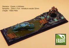 Mini cenário + miniatura Conan, trabalho de Fabio Melo  :  fabiosrtista@gmail.com