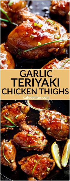 Garlic Teriyaki Chicken Thighs are cooked right on the stove without needing an. Garlic Teriyaki Chicken Thighs are cooked right on the stove without needing an… Healthy Recipes, Asian Recipes, Cooking Recipes, Freezer Cooking, Cooking Tips, Freezer Meals, Freezer Recipes, Smoker Recipes, Home Recipes