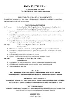 entry level accounting resume example career pinterest resume