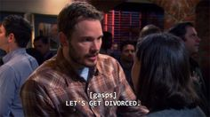 Bert Macklin and Janet Snakehole forever. Parks N Rec, Parks And Recreation, Janet Snakehole, Andy And April, Love Park, Getting Divorced, Film Quotes, Cute Couples, Fictional Characters