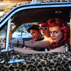 Rockabilly girls. Stop off at www.breakeryard.com for your car parts.