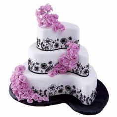 Garden Terraces Cake. Love the shape and the design, not the colors.