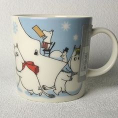 Joulumukit 030 Moomin Mugs, Tove Jansson, Drawings, Tableware, Decorating, Collection, Glass, Decoration, Dinnerware