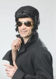 Looking for Elvis Presley costume for your party? Here are some of the most 10 popular Elvis wigs on the market today. You can bring to life or simply remember the King of Rock 'n Roll by wearing these Elvis wigs at any costume or retro party. Elvis Costume, 1950s Costume, Costume Wigs, Costume Dress, Black Elvis, 1950s Fancy Dress, Blue Costumes, Teddy Boys, Sideburns