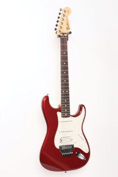 Standard Stratocaster HSS w/ Floyd Rose Electric Guitar Level 2 Candy Apple Red,...