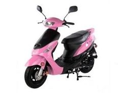 pink gas scooter