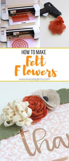 How to make felt flowers with your Cricut Maker. Tips and tricks to making your … How to make felt flowers with your Cricut Maker. Tips and tricks to making your …,Creative: Paper &. Cricut Ideas, Cricut Tutorials, Cricut Project Ideas, Cricut Vinyl Projects, Sewing Tutorials, Diy Home Crafts, Crafts To Sell, Easy Crafts, Food Crafts