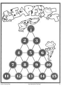 Check out this cute Leapfrog Number Jumping! Numeracy Activities, Free Activities, Teaching Math, Maths, May Themes, Math Fact Fluency, Free Math, Math Facts, Emu