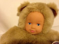 Baby Bears by Anne Geddes Beige 9 inche from Bean Filled Collection 18 Mths + #Dolls