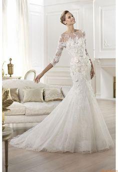 Meerjungfrau Außergewöhnliche Glamouröse Brautkleider aus Tüll mit Applikation