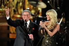 Tony Bennett and Carrie Underwood perform on the 54th Annual GRAMMY Awards on Feb. 12 in Los Angeles
