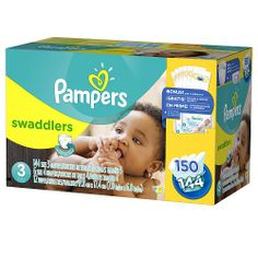 """Pampers Swaddlers Diapers - Size 3 Super Economy Pack - 144 count - Procter & Gamble - Babies """"R"""" Us"""