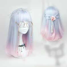 Japanese kawaii cosplay gradient lolita wigs - Looking for Hair Extensions to refresh your hair look instantly? KINGHAIR® only focus on premium quality remy clip in hair. Visit - - for more details Pelo Lolita, Lolita Hair, Kawaii Hairstyles, Pretty Hairstyles, Wig Hairstyles, Drawing Hairstyles, Cosplay Kawaii, Kawaii Wigs, Pelo Anime