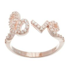 """Rose gold open """"Love"""" ring #trends #rings #jewelry"""