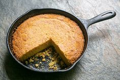 Southern Cornbread by simplyrecipes: A Southern-style savory cornbread, baked in a hot iron skillet.  #Cornbread #Southern