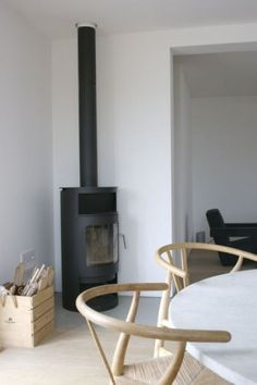 contemporary stove - fog main building studio/location rental in dungeness on the kent coast Home Fireplace, Home, Interior Deco, Simple House, Wood Stove, House Interior, Room, Wood Burning Stove, Cozy Fireplace