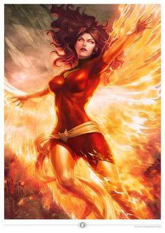 Dark Phoenix By Artgerm