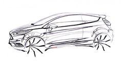 Ford Fiesta ST Concept Design Sketch.