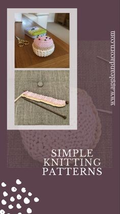 Beginner knitting patterns don't have to be scarves, try something different! Our knitting patterns are very easy to understand and we are just an email away if you need help. Our cupcake knitting pattern is very popular and once you master them you will want to make more. Beginner Knitting Patterns, Knitting For Beginners, Simple Knitting, Cupcake Cases, Love Craft, Pin Cushions, My Design, Crochet Hats, Colours