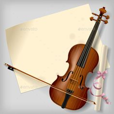 Violin with a Paper Sheet