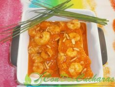 ConDosCucharas.com Bacalao a mi manera - ConDosCucharas.com Shrimp, Meat, Food, Fish Recipes, Cod, Meals, Yemek, Eten