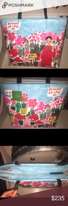 Brand new summer time Kate Spade purse If you want to get into the summer spirit this year this purse is definitely for you,super cutesy perfect for your vacation to the beach or picnic day. kate spade Bags Totes